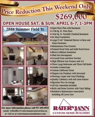Open House - 2888 Summer Field Tr.