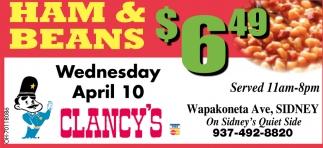 Ham & Beans $6.49