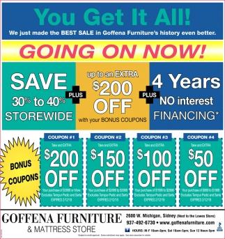 Save 30% to 40% storewide