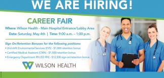 We Are Hiring! Career Fair
