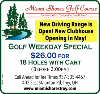Golf Weekday Special
