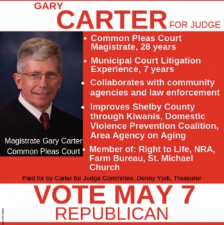 Gary Carter for Judge