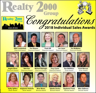 Congratulations 2018 Individual Sales Adwards