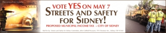 Vote Yes on May 7 - Streets and Safety for Sidney!