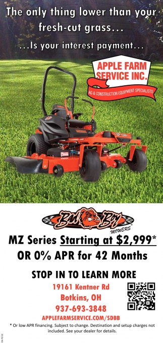MZ Series Starting at $2,999 or 0% APR for 42 Months