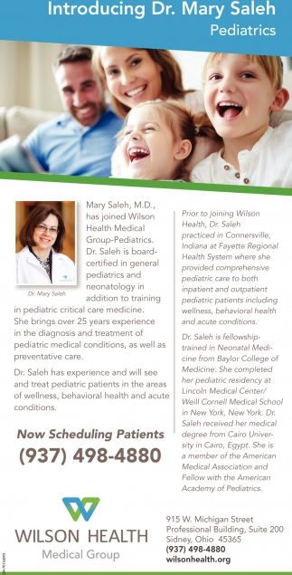 Introducing Dr. Mary Saleh, Pediatrics