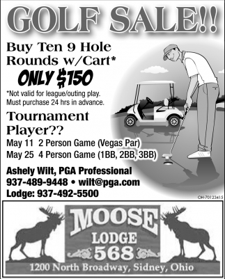 Golf Sale!