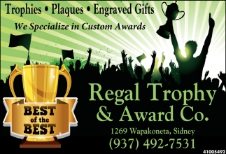 We Specialize in Custom Awards