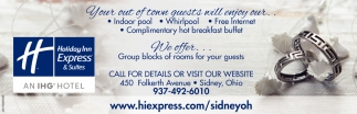 We offer group blocks of rooms for your guests