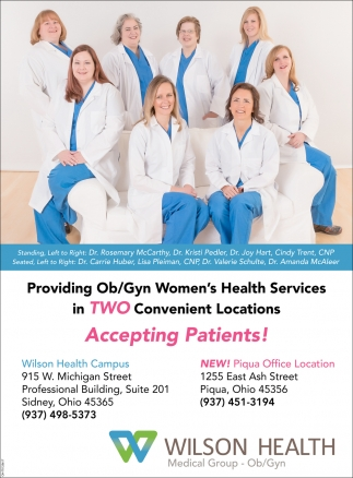 Providing Ob/Gyn Women's Health Services in Two Convenient Locations