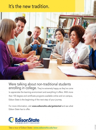 Were talking about non-traditional students enrolling in college