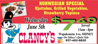 Norwegian Special - Kjottaker, Grilled Vegetables, Strawberry Tapioca
