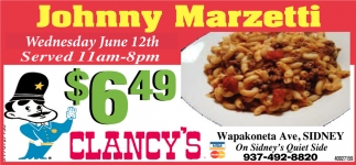 Johnny Marzetti - June 12th
