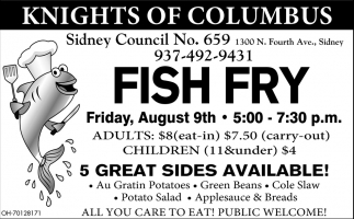 Fish Fry August 9th