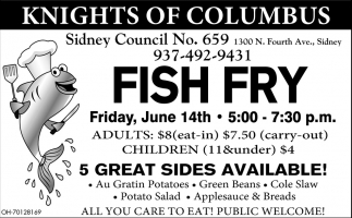Fish Fry June 14th