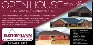 Open House thru June