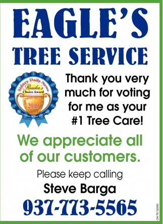 Thank you very much for voting for me as your #1 Tree Care