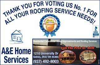 Thank you for voting us Nº 1 for all roofing service needs