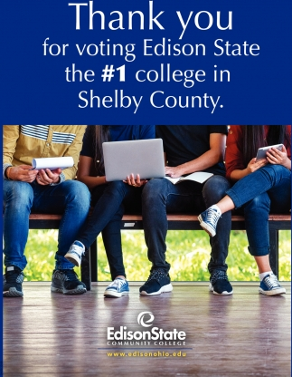 Thank you for voting Edison State the #1 college in Shelby County