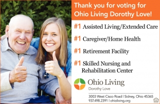 Thank you for voting for Ohio Living Dorothy Love