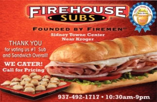 Thank you for voting us #1 Sub and Sandwich Overall!