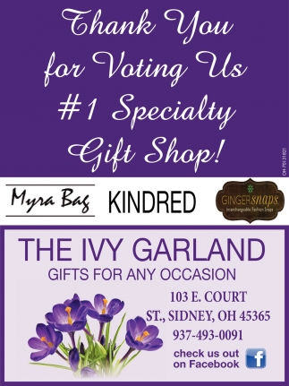 Thank You for Voting Us #1 Specialty Gift Shop
