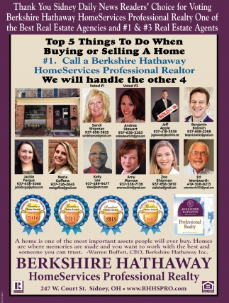 #1 Call a Berkshire Hathaway HomeServices Professional Realtor