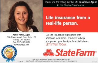 Life insurance from a real-life person