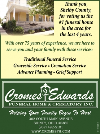 Thank you Shelby County for voting us the #1 funeral home in the area for the last 4 years