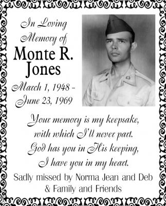 In Loving Memory of Monte R. Jones