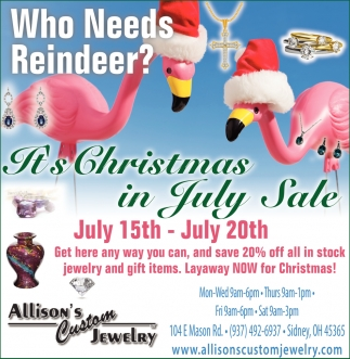 Its Christmas in July Sale