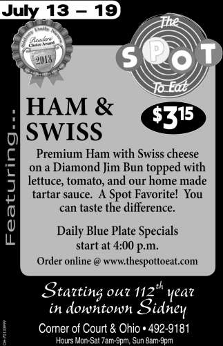 Ham & Swiss $3.15