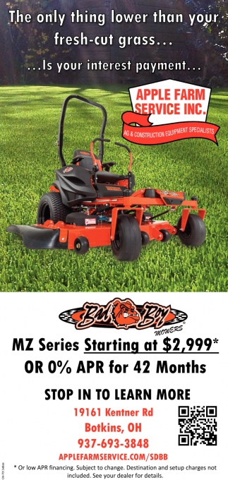 The only thing lower than your fresh-cut grass...