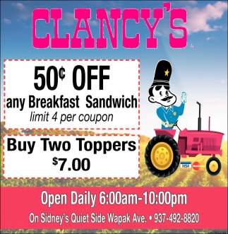 50 ¢ off any Breakfast Sandwich