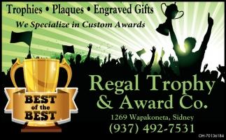 We Specialize in Custom Awards