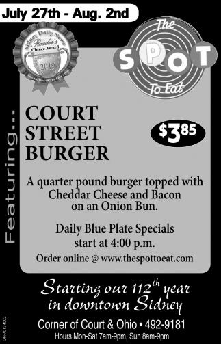 Court Street Burger $3.85