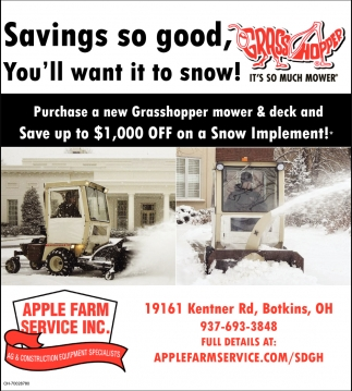 Save up to $1,000 off on a Snow Implement*