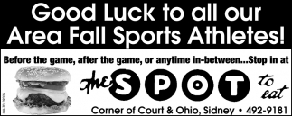 Good Luck to all our Area Fall Sport Athletes!