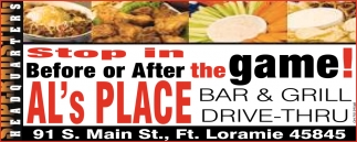 Stop in Before or After the Game!