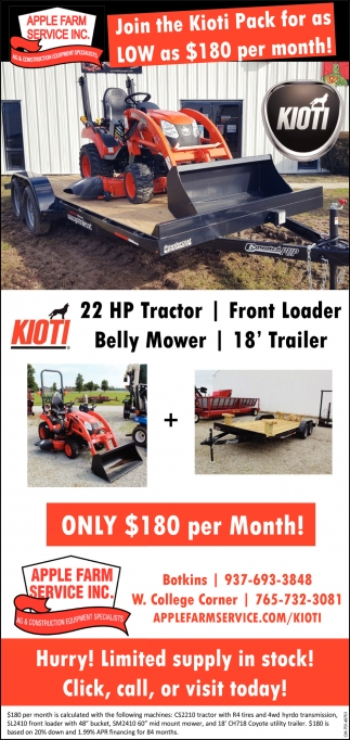 Join the Kioty Pack for as Low as $180 per month!
