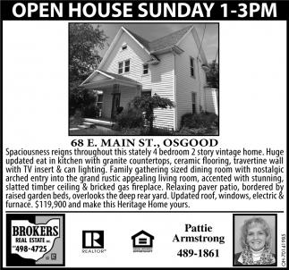 Open House - 68 E. Main St., Osgood
