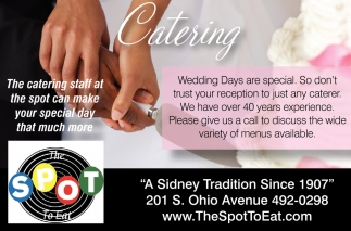 The catering staff at the spot can make your special day that much more