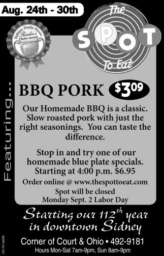 BBQ Pork $3.09