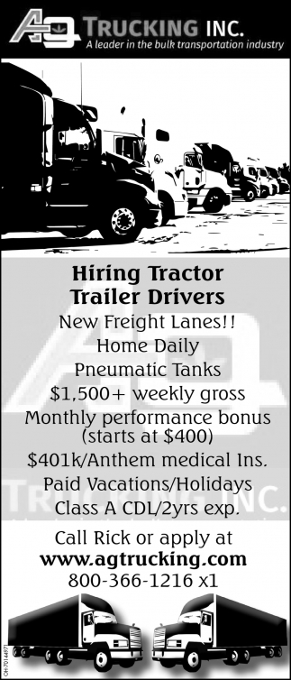 Hiring Tractor Trailer Drivers