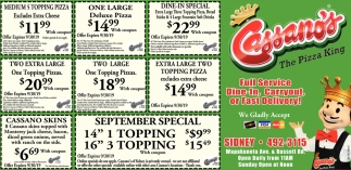 Full Service - Dine-In, Carryout, or Fast Delivery