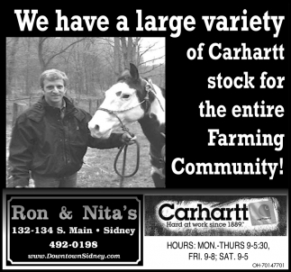 We have a large variety of Carhartt stock for the entire Farming Community