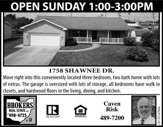 Open Sunday - 1758 Shawnee Dr.