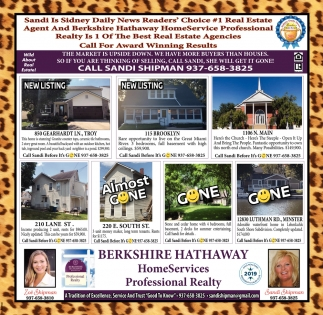 Sandi is Sidney Daily New Reader's Choice #1 Real Estate Agent