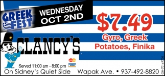 Greek - Wednesday Oct 2nd