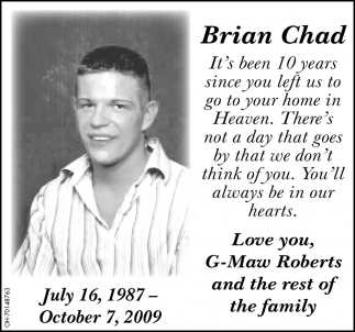In Memory of Brian Chad